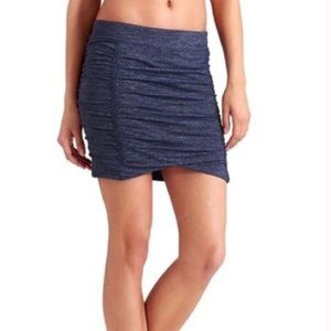 Athleta Twisted Mini Skirt Grey Space Dye